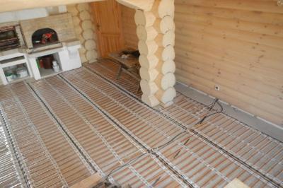 Теплый пол в бане под плитку, какой лучше – электрический, инфракрасный или водяной и его монтаж. Электрический теплый пол в бане — разъясняем тщательно